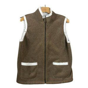 Telluride Clothing Vest Faux Shearling Lined Zip